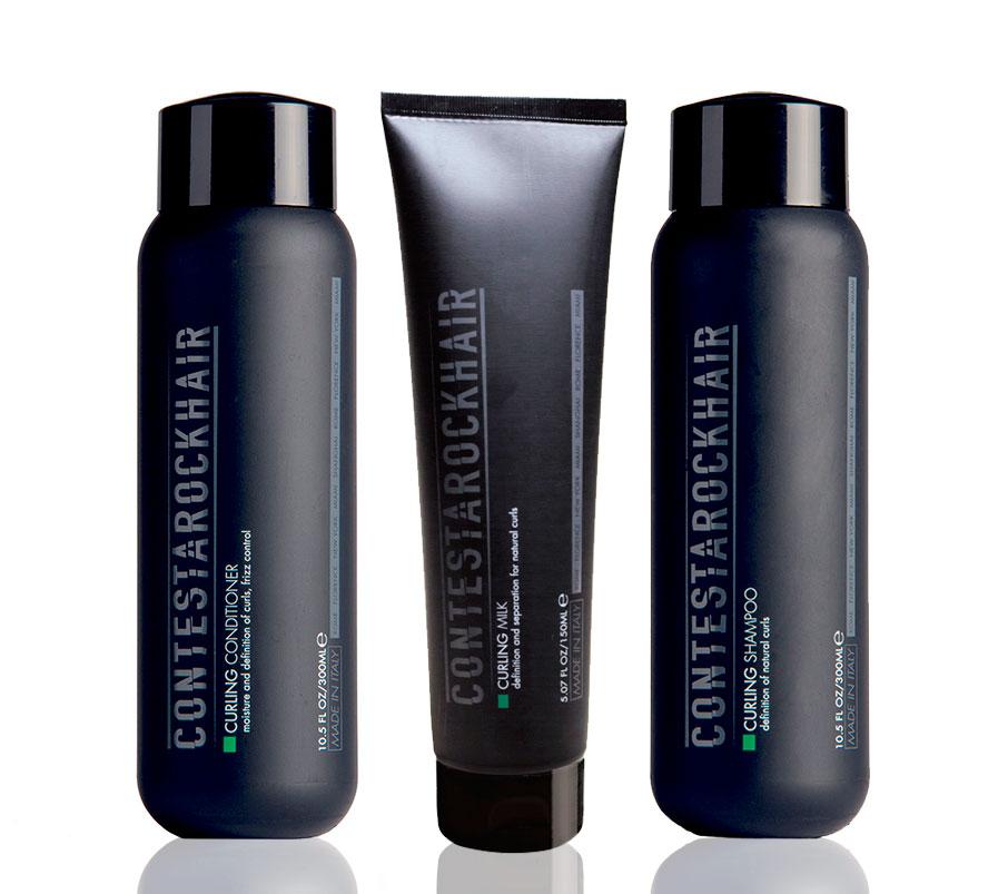set prodotti professionali per capelli ricci