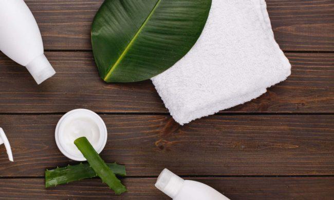 aloe vera e prodotti per capelli per creare una maschera in casa